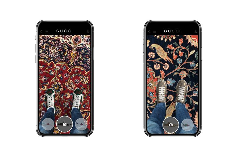 Augmented Reality Footwear Apps - A New Gucci App Uses AR for Shoes (TrendHunter.com)