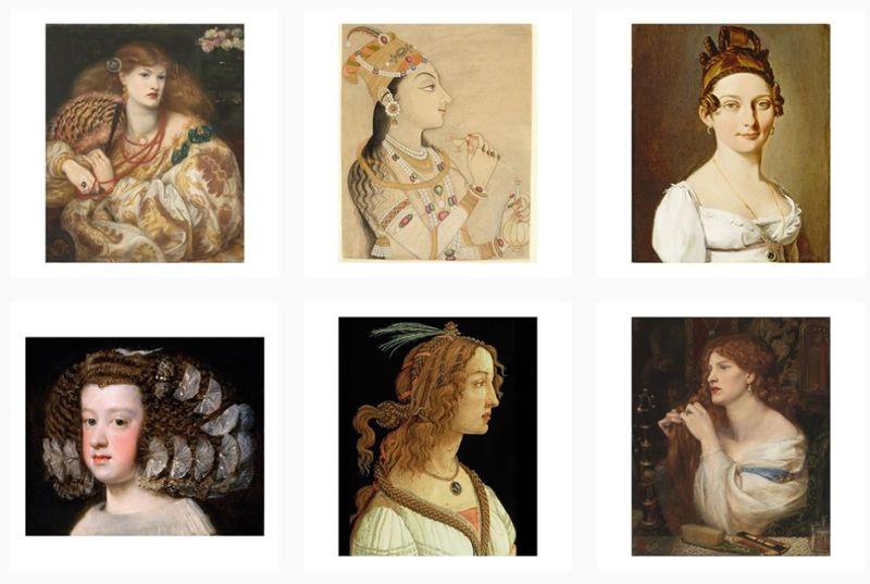 Art History-Inspired Beauty Accounts