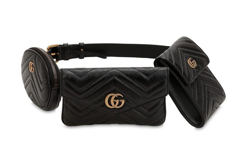 de2fbb0542 Three-in-One Waist Bags : Gucci's Three-in-One Waist Bag