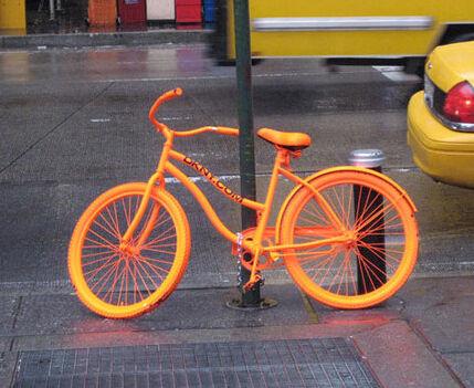 Guerrilla Fashion Marketing Dkny Neon Bikes Around Nyc