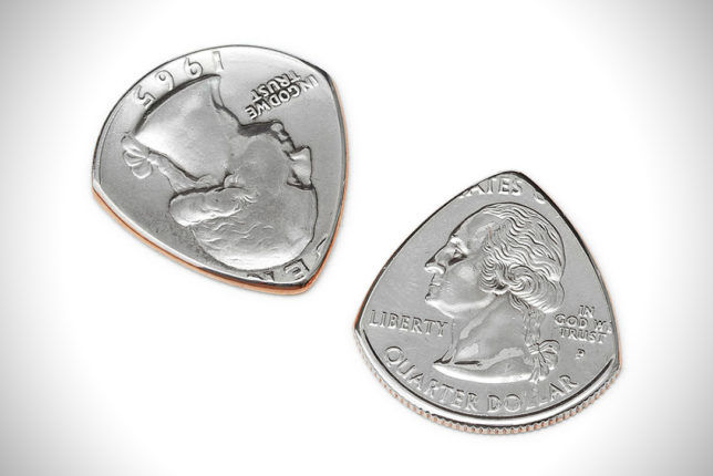 Repurposed Coin Plectrums
