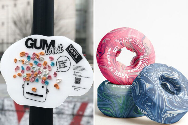 Gum-Made Skateboard Wheels