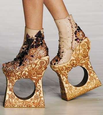 Holey Wedged Heels