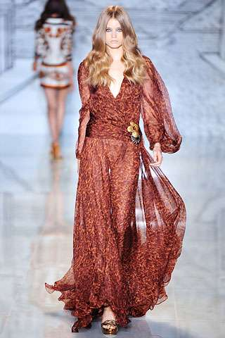gypsy dresses gucci resort 2009 collection