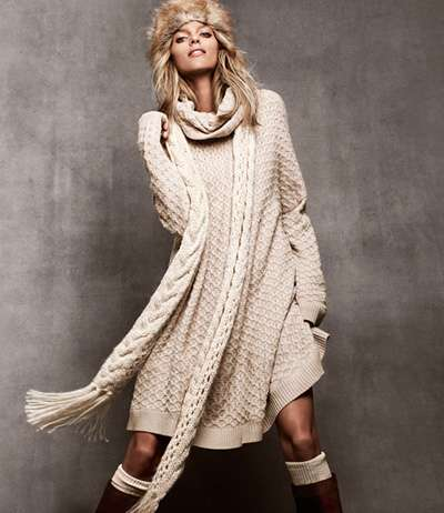 227ab75db2e43 Cozy Beige Sweater Dresses : h m winter collection 2011