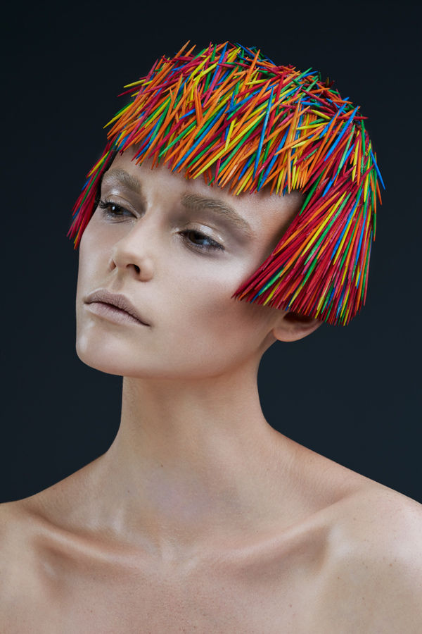 Prickly Toothpick Headdress Photography Hair Art Photography