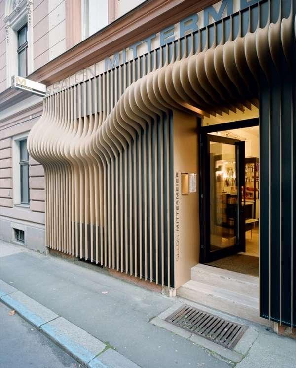 3d hairstyle facades the hair couture salon exterior for Beauty salon exterior design