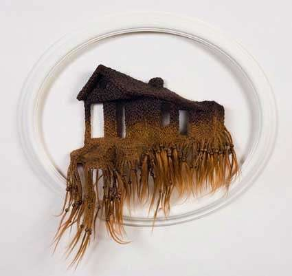 Hairy houses huricane katrina memorial art made from hair extensions hairy houses pmusecretfo Gallery