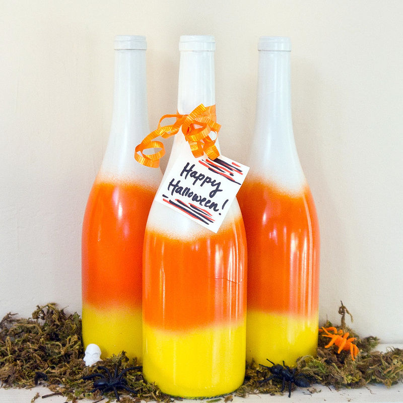 Festive Candy Corn Bottles