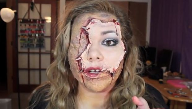 Stitched Mouth Halloween Makeup : halloween tutorial
