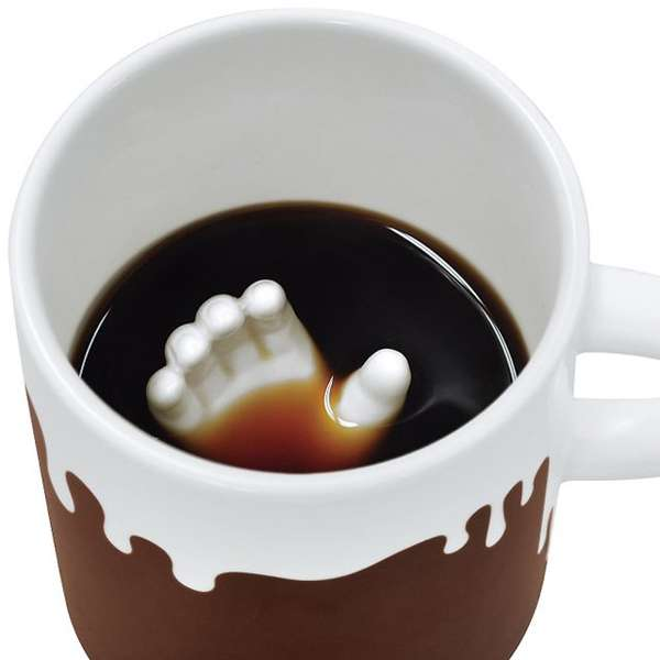 Submerged Hand Coffee Cups Halloween Mugs
