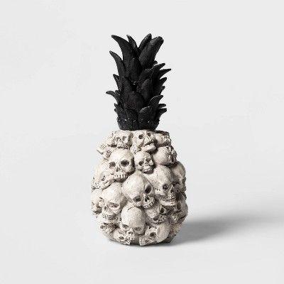 Spooky Pineapple Decorations Halloween Skull Decoration