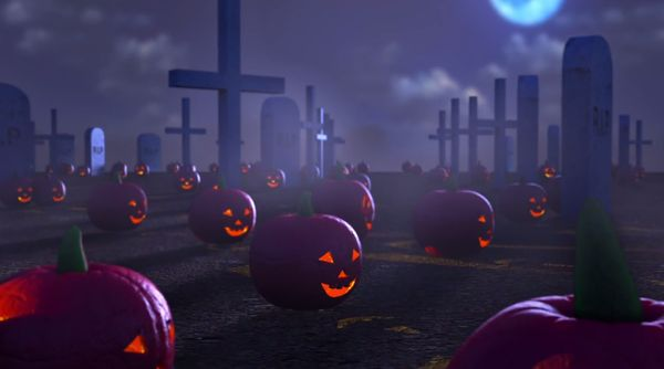 Eerie Pumpkin Field Animations