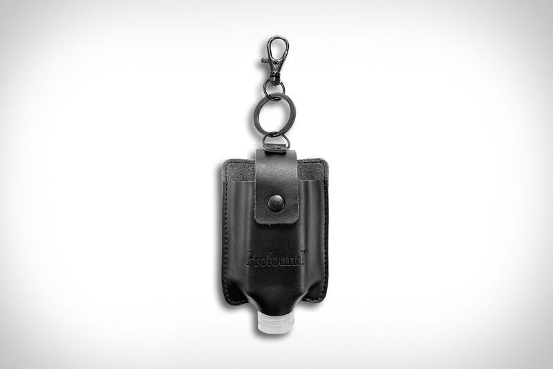 Lux Leather Sanitizer Keychains
