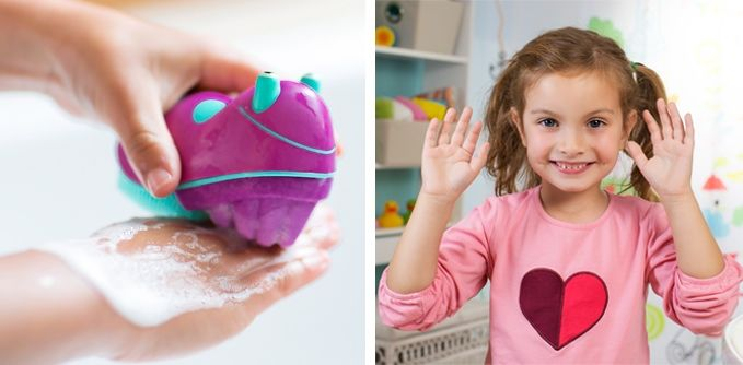 Kid-Friendly Hand Scrubbers