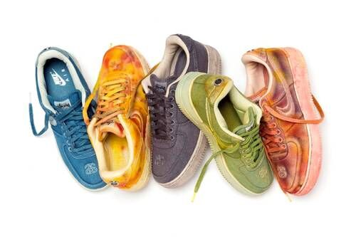 Bright Hand-Dyed Sneakers