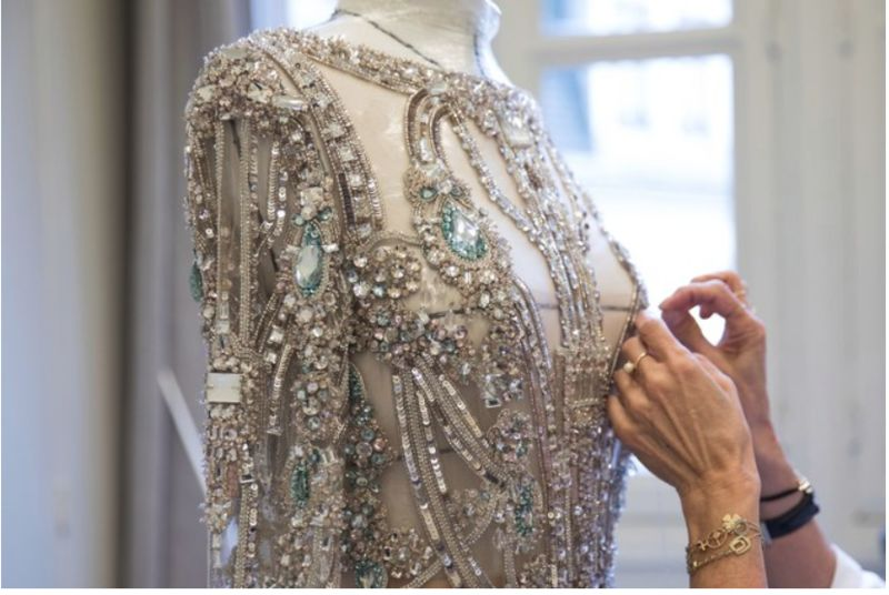 Hand-Embroidered Sequin Gowns