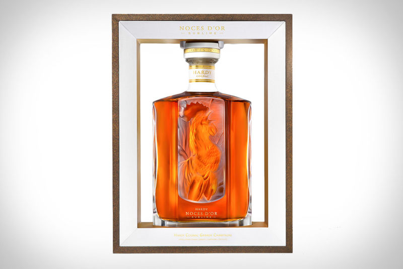 Hand-Etched Cognac Bottles