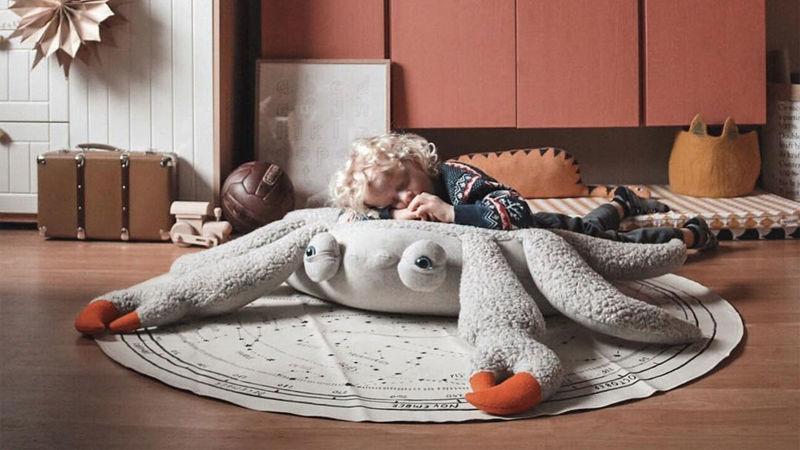 Comfy Crustacean Floor Pillows