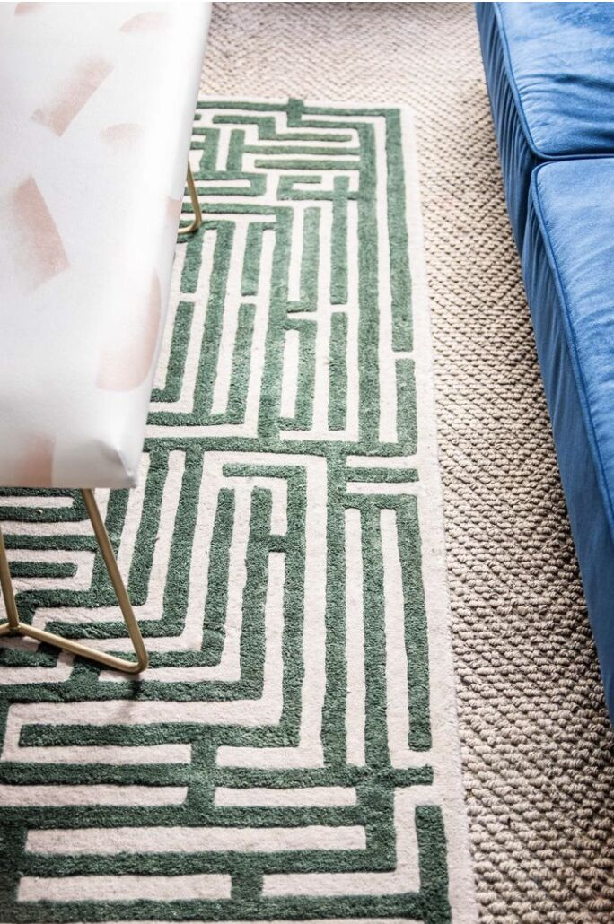 Maze-Inspired Hand-Tufted Rug Lines