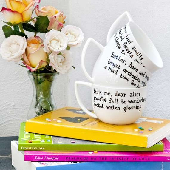 Handwritten Poem Mugs