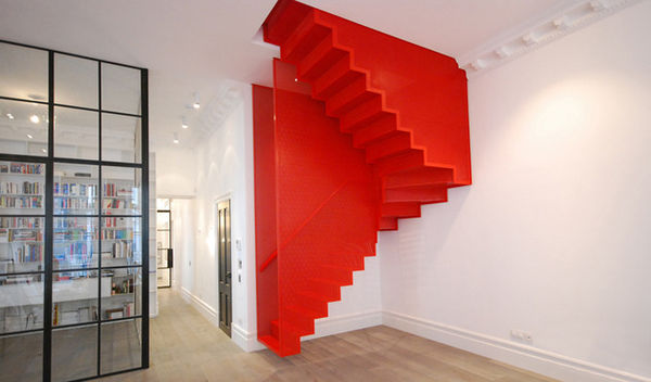 Floating Scarlet Staircases