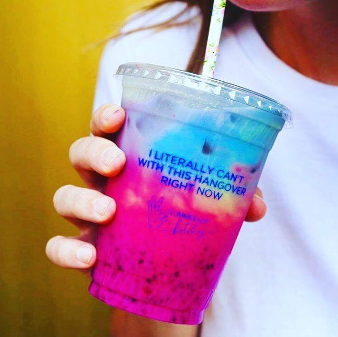 Rainbow-Hued Hangover Lattes