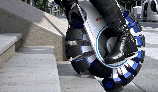 Stair-Climbing Unicycle Vehicles
