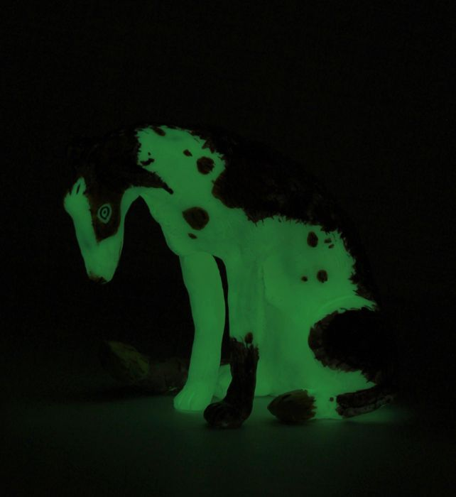 Illuminated Canine Sculptures