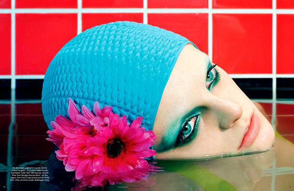 Swimmer-Themed Beauty Portraits