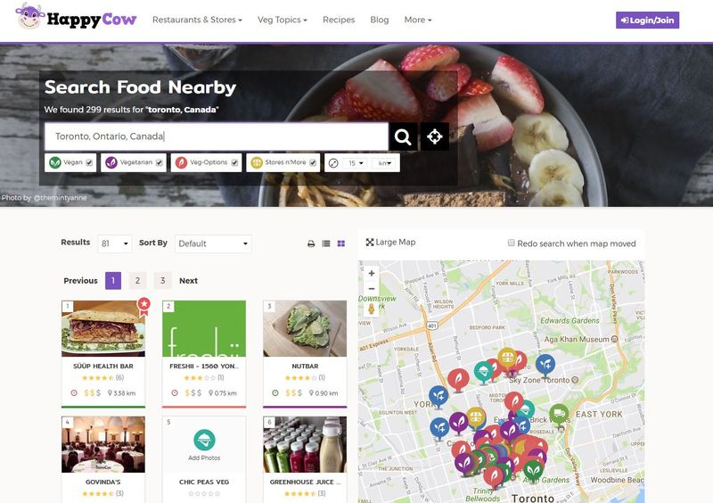 Vegan Restaurant Aggregators