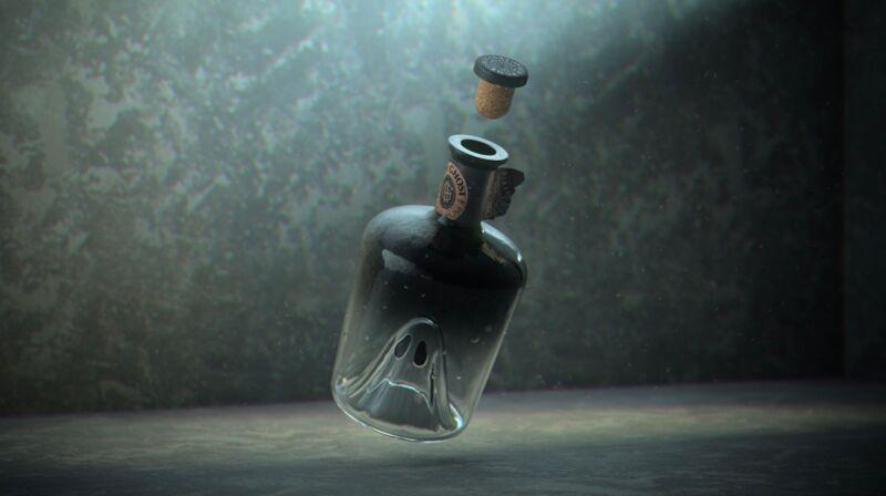 Ghostly Rum Bottles