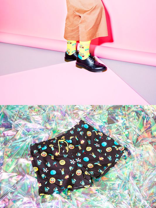 Bright Cartoon-Themed Socks