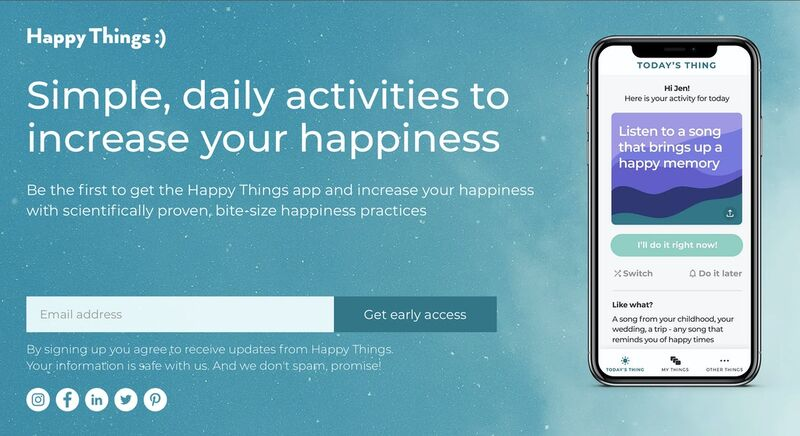 Happiness-Increasing Health Apps