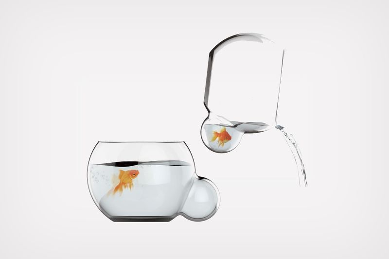Bulbous Cleaning-Friendly Fishbowls