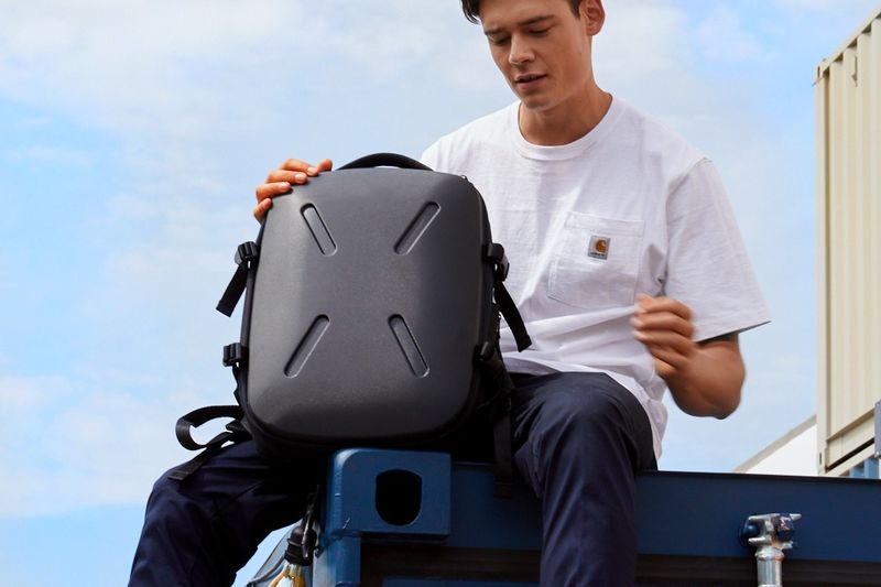 Jerrycan-Inspired Backpacks : hardcover backpack