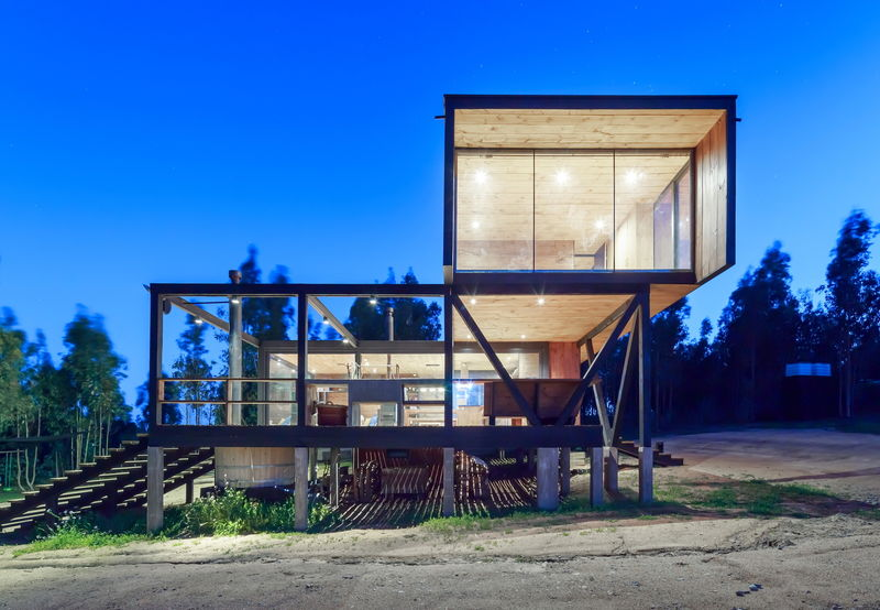 Elevated Wooden Box Homes