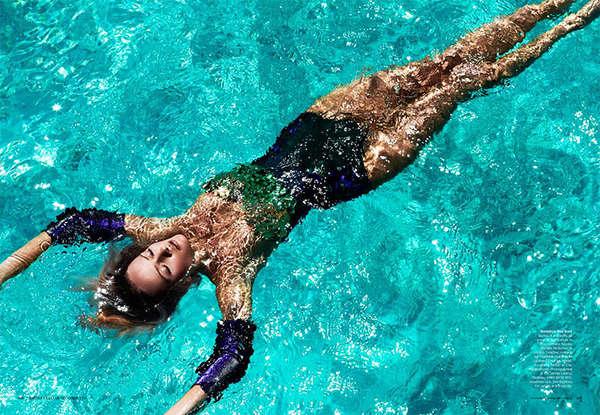 Ornamental Oceanic Swimwear