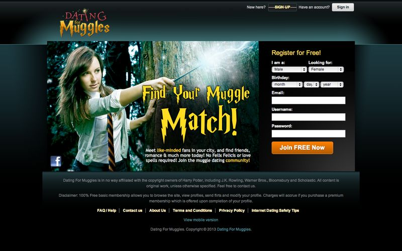 Are there dating sites for harry potter fans