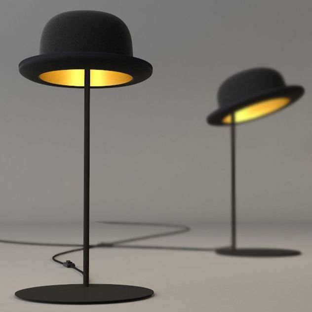 Tipping Hat Lamps
