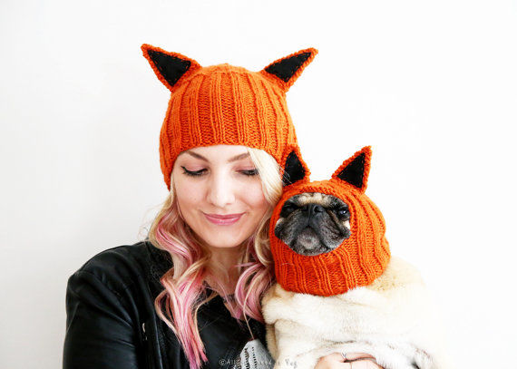 matching pet owner accessories hat with ears. Black Bedroom Furniture Sets. Home Design Ideas