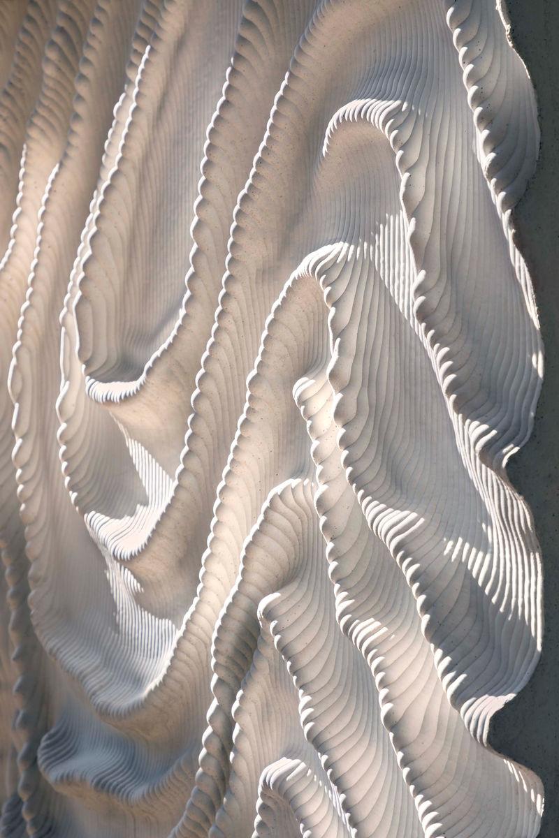 Couture-Inspried Concrete Friezes