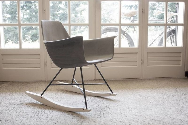 Concrete Midcentury Modern Chairs