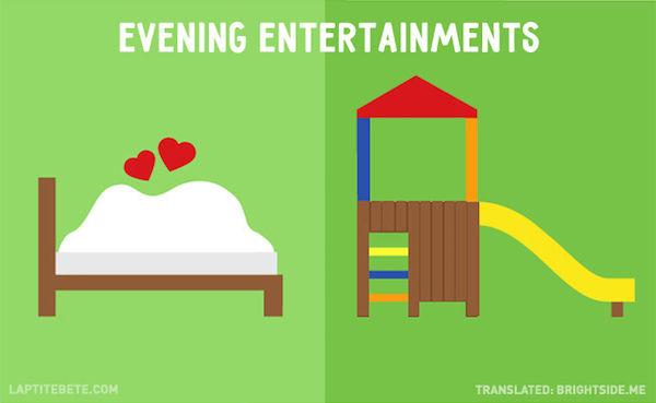 Contrasting Parenthood Infographics