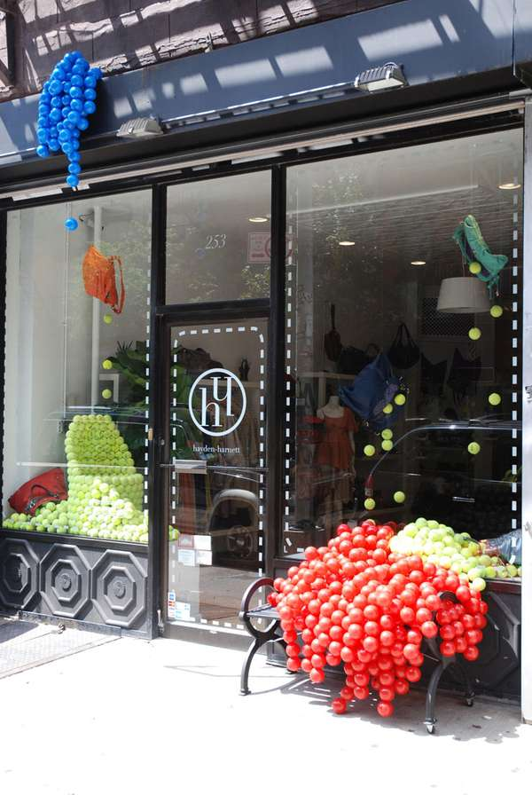 Piled Tennis Ball Storefronts