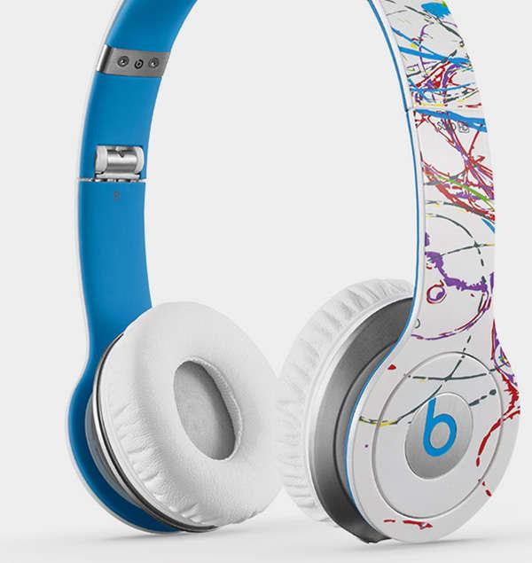 Paint-Splattered Headphones