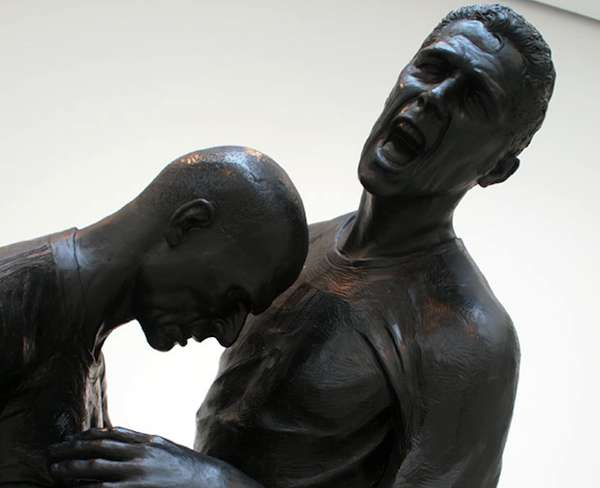 Immortalized Headbutt Sculptures