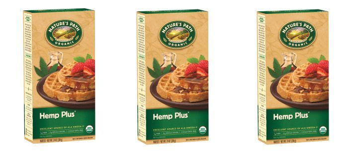 Hemp-Enriched Frozen Waffles