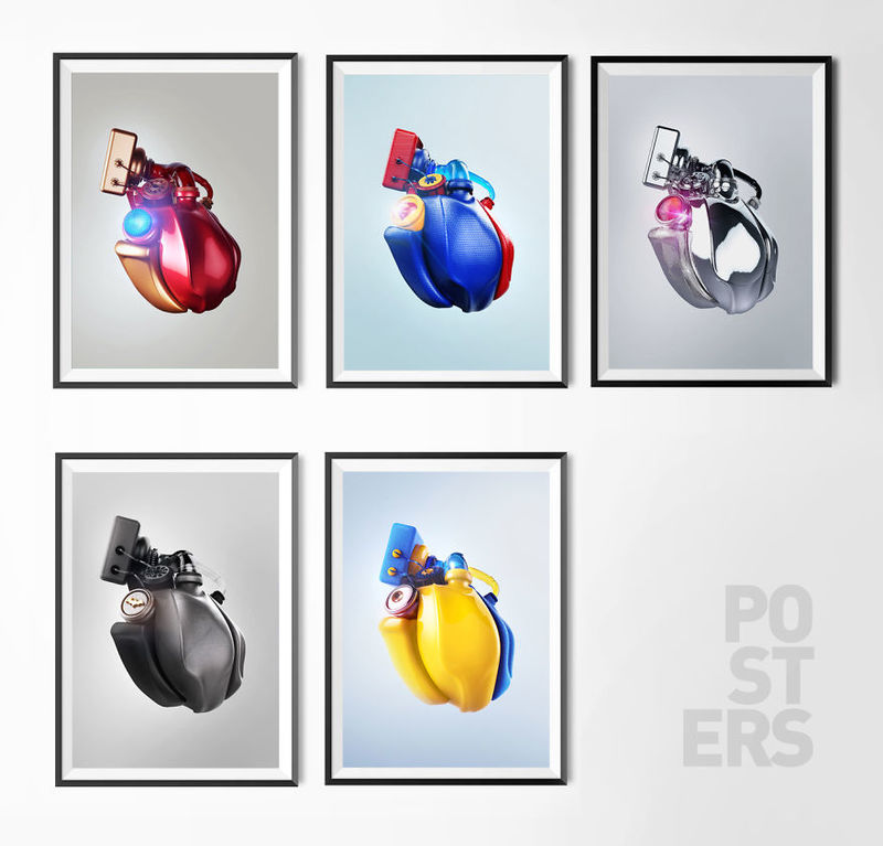 Superhero Heart Art
