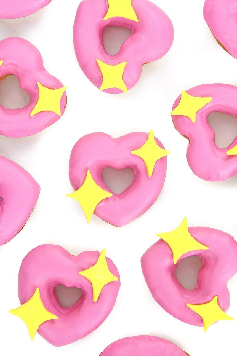 Romantic Emoji Donuts